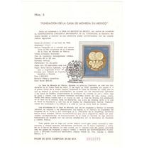 Hoja Primer Día Casa De Moneda 1985
