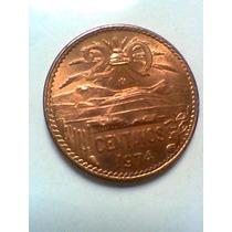 20 Centavos De Cobre Moneda Mexicana 1974 Sin Circular