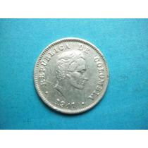 Republica De Colombia Moneda 10 Centavos Fecha 1941 Plata