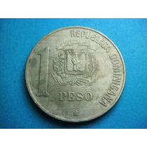 Republica Dominicana Un Peso 1988 Niquel
