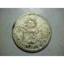 25 Centavos Balanza Ceca Guanajuato Ensayador S. Fecha 1874