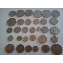 Monedas Antiguas Lote De 30 Piezas Diferentes De 30´s A 80´