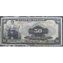 Billete Banco De Mexico $50 Pesos 1934 Tipo Ancho