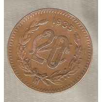 Moneda De 20 Cvs Cobre Antigua