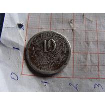 Moneda De 10 Centavos, Año 1894, Como Aparece En Las Fotos