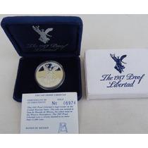 Moneda 1 Onza Libertad Acabado Proof 1987 !!
