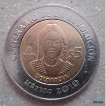 Monedas Conmemorativas Soldadera 5 Pesos Revolucion