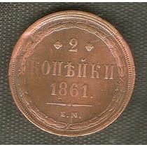 Rara Moneda Rusa 2 Kopecs 1861
