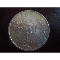 Preciosa Moneda 2 Pesos Del Angel,1921,plata Pura .