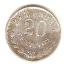 20 Cvs. Plata Ley O.800 Zacatecas 1899