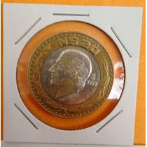 Coleccionables Monedas Veinte 20 Pesos Hidalgo Plata