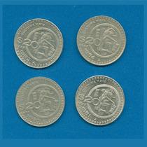 $20 Cultura Maya· Serie Completa Plata 1980 - 1984