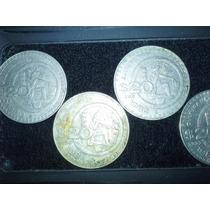 Serie 4 Monedas Antiguas 20 Pesos Culturamaya 80-84 C/envío.