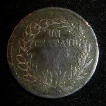 Moneda 1 Centavo 1873 Republica Mexico Juarez