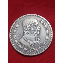 Moneda Morelos Un Peso, Plata 0.100 1957-1967