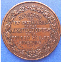 Medalla Virgen De Guadalupe 400 Años De Las Apariciones 1931