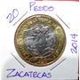 Monedas De $20 Pesos, Veinte Pesos Zacatecas
