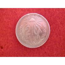 20 Cnt. 1905 Ley .800 Plata.