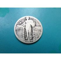 Moneda Antigua 25 Centavos De Dolar 1927