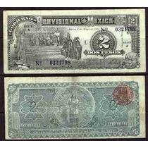 Si-df-15 Billete Del Distrito Federal De 2 Pesos