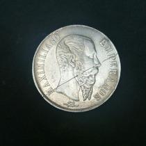 1 Peso Maximiliano Plata De Gto 1866