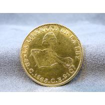 Moneda Antigua De 8 Escudos De Oro 1863 Ley 900 De Culiacán