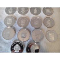 Monedas Escasas De Estados 1 Onza Plata 100 Pesos Foliadas