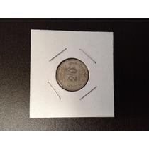 Moneda 20 Centavos Gorro Frigio(resplandor) Plata .720