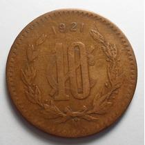 10 Centavos 1921 Mo Eu Mexicanos