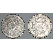 Monedas De 50 Pesos Templo Mayor Años 82, 83 Y 84