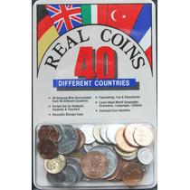 Colección De 40 Monedas De 40 Paises Diferentes, Nuevas.