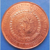 Medalla Exposicion Universal Mexico En Paris 1889 Cobre