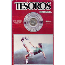 Moneda De Plata $25 Pesos Tesoros Del Mundial 1986