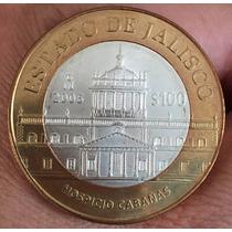 Mexico $100 2006 Jalisco 2a. F. Plata, Ver Foto, Oportunidad
