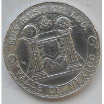 Medalla Masonica 1962 100 Aniv Mexico Plata Excelente