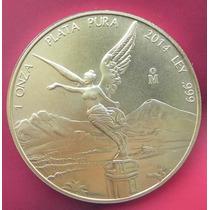 Moneda Mexico Onza Troy Chapa De Oro Solo 100 Pcs 2014