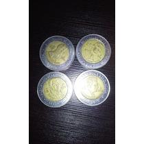 4 Monedas 5 Pesos Aniversario Independencia Y Revolucion