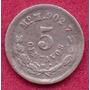 5 Centavos 1888 Plata México Moneda Presidente Porfirio Díaz