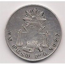 Super Ganga Peso Balanza De Slp, Año 1872.plata 0.903