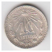 10 Centavos 1933 Unc.