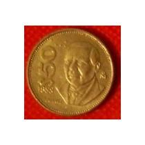 50 Pesos 1988 México Benito Juárez Último Año En Nikel - Vbf