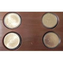 Medallas 4 Pcs Encuentro De 2 Mundos 1992 Bronce