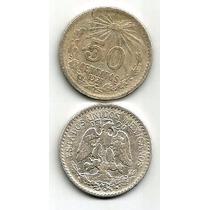 Moneda De 50 Cvs Plata 0.720 1921