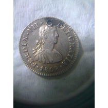 Moneda Antigua1/2 Real Fernando Vii 1809 Th Excelente Estado