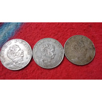 Moneda De Cinco Pesos De 1974,1972,1973