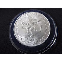 Moneda 25 Pesos Olimpica 1968 En Capsula