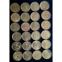 Monedas Antiguas De 5 Pesos Bronce México 1985 - 1988