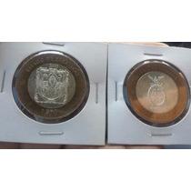 Moneda Bimetalica De 100 Sinaloa Y Zacatecas Condicion Bu+