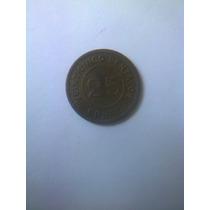 Moneda Antigua 25 Centavos 1915 Guatemala