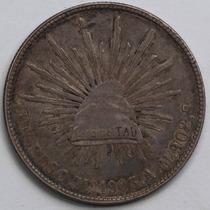 Aaaa 1903 8 Reales Mo Rara Moneda Mexicana Peso Au Plata Cf8